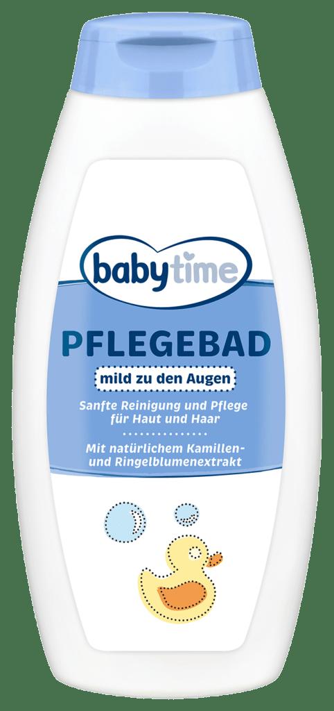 Flasche des babytime Pflegebads