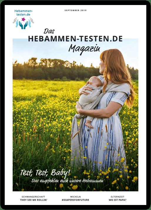 Titelbildansicht des neuen Hebammen-testen.de Magazins