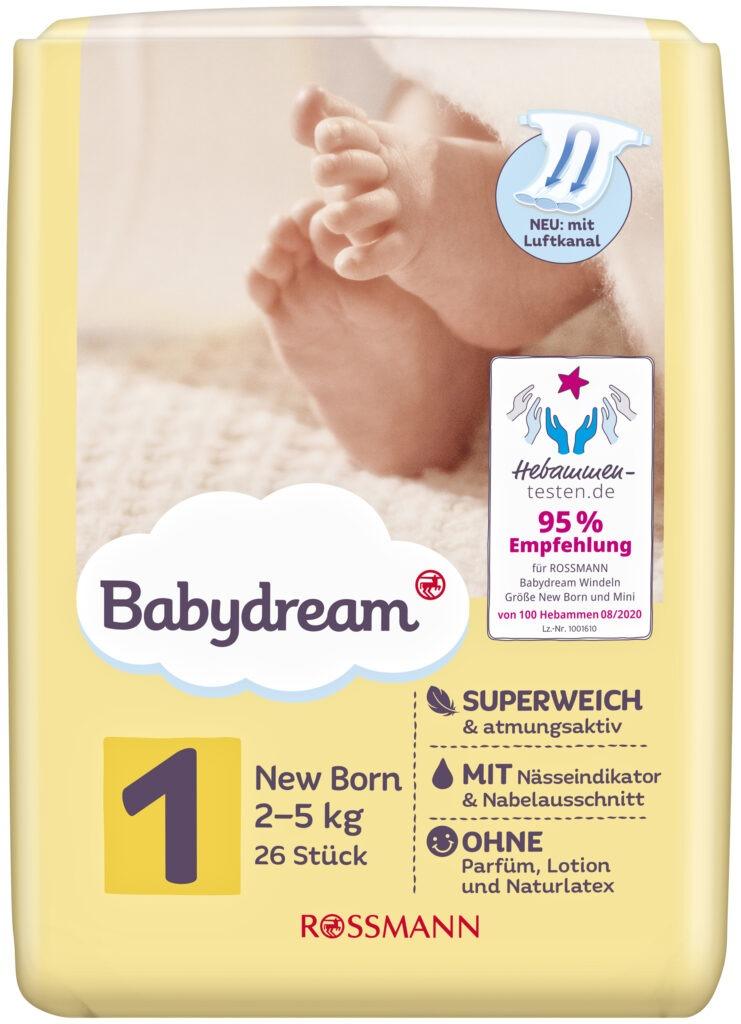Babydream Windeln Größe 1 Rossmann Produktbild