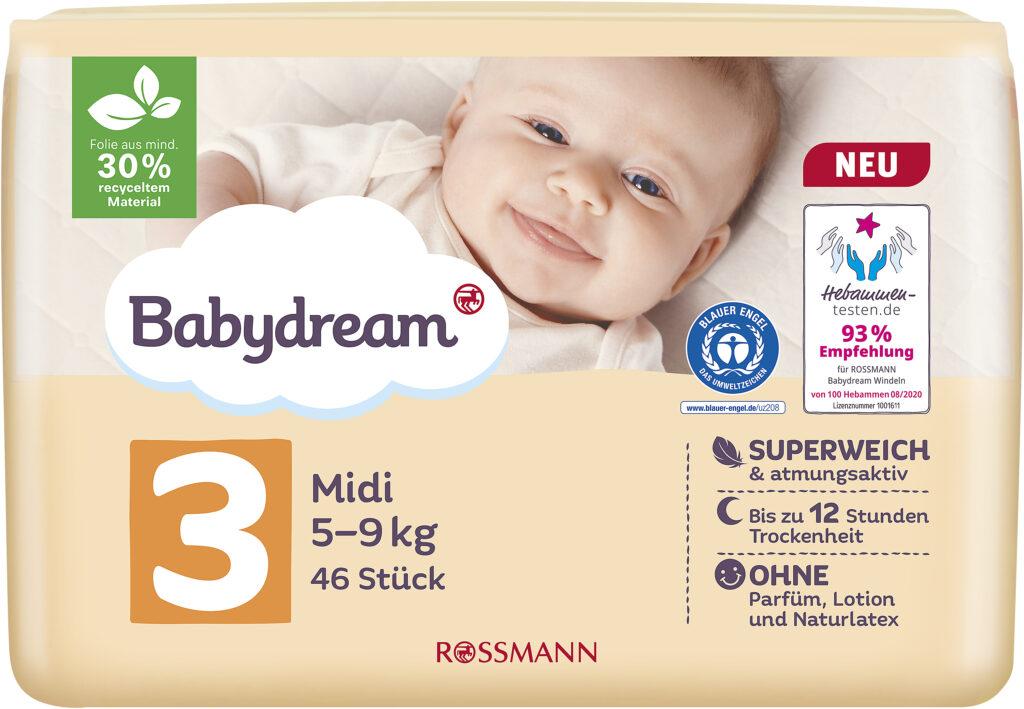 Babydream Windeln Größe 3 Rossmann Produktbild