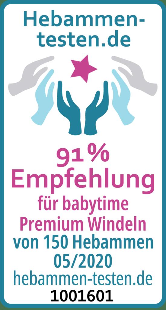 babytime premium windeln siegel
