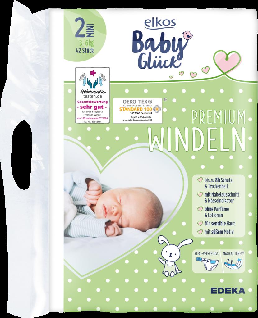 elkos babyglück Windeln Produktbild Gr.2