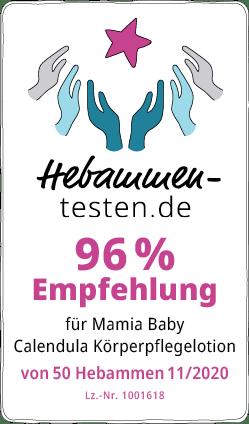 Mamia Baby Calendula Körperpflegelotion Siegel