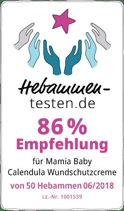 Mamia Baby Calendula Wundschutzcreme Siegel