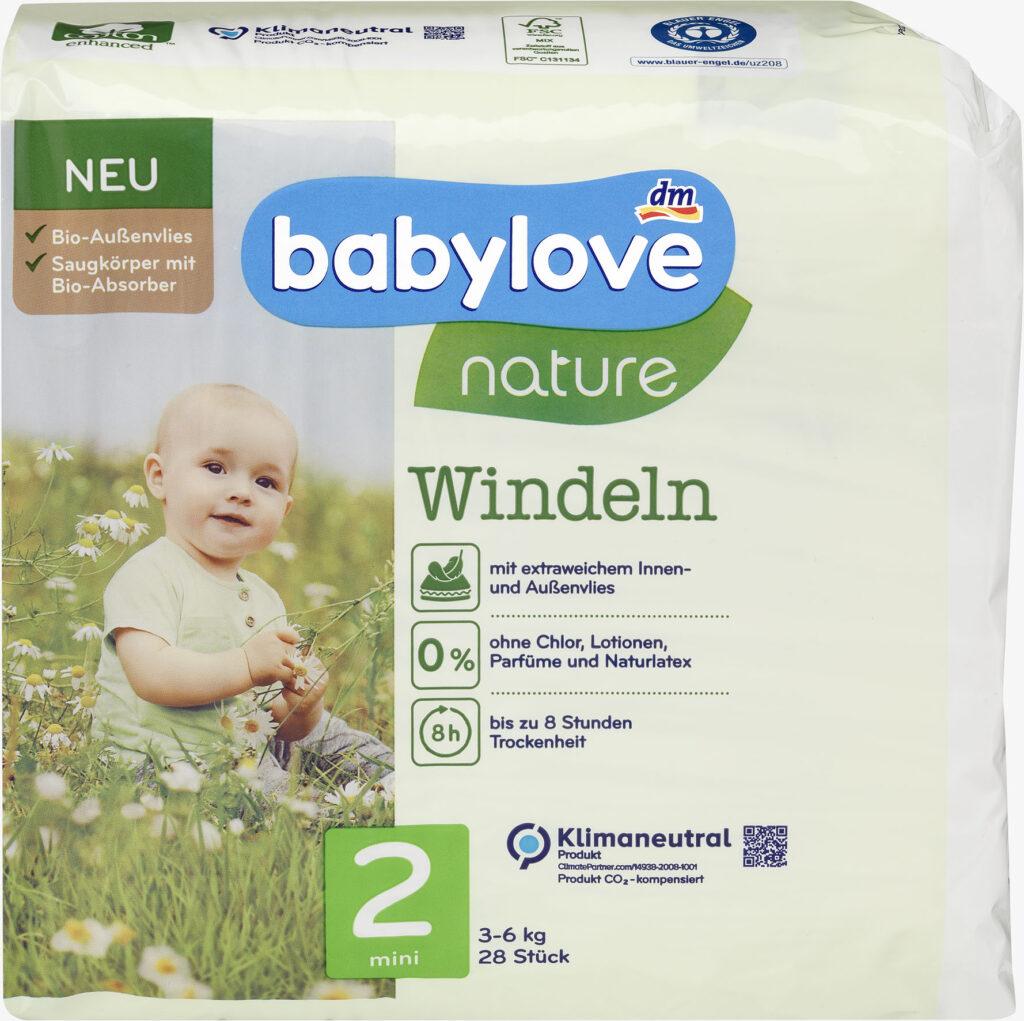 babylove Windeln nature Gr. 2 Produktbild
