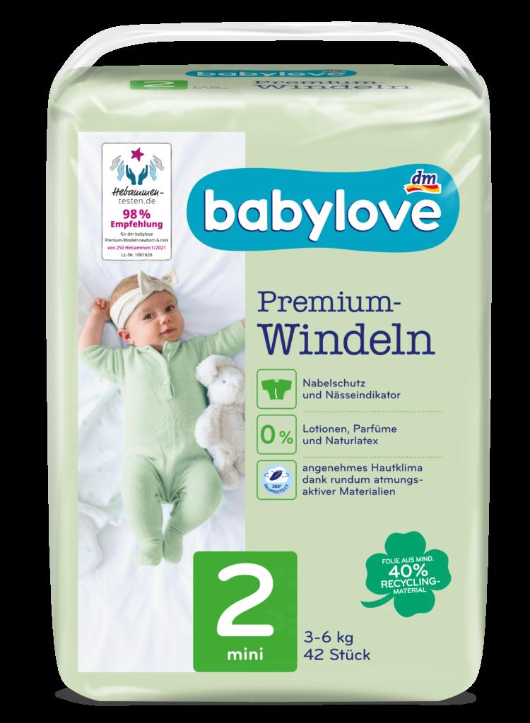 babylove Windeln Packshot mini Gr. 2