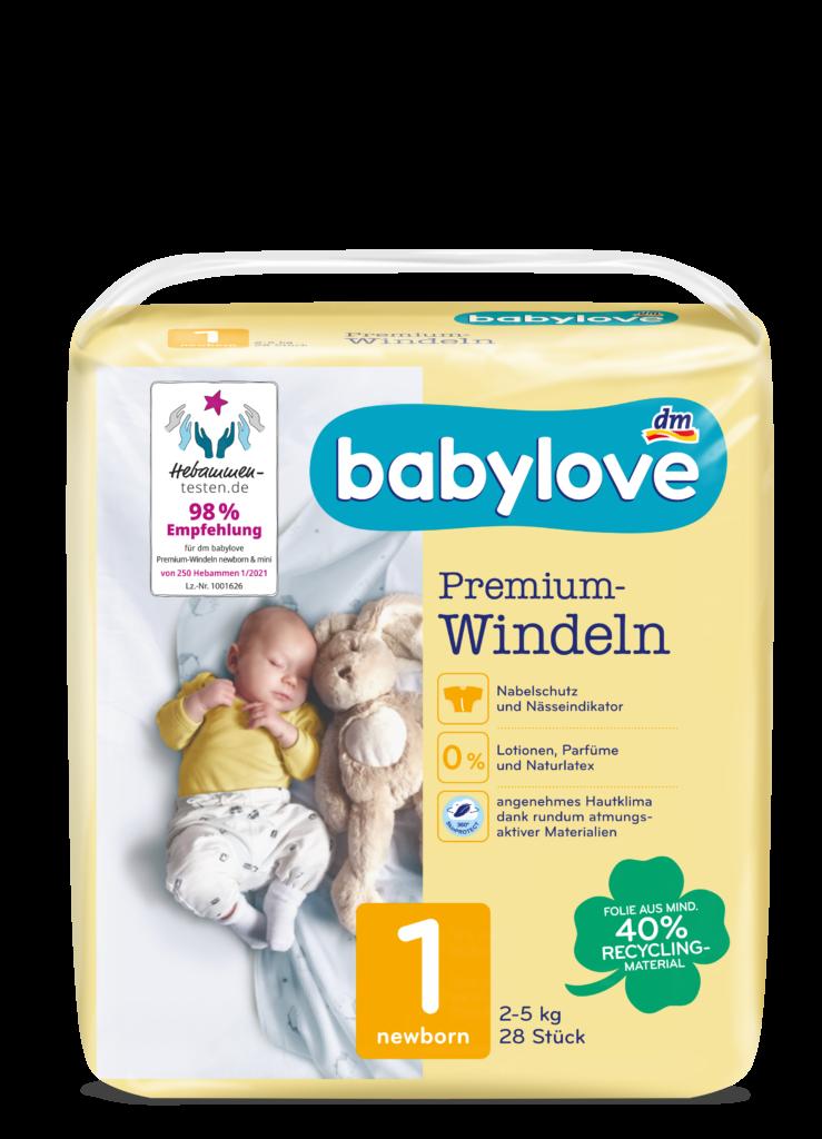 babylove Windeln Packshot newborn Gr. 1