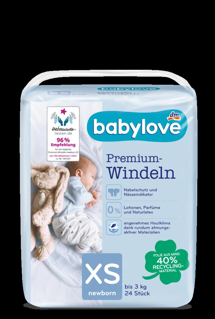 babylove Windeln Packshot XS newborn