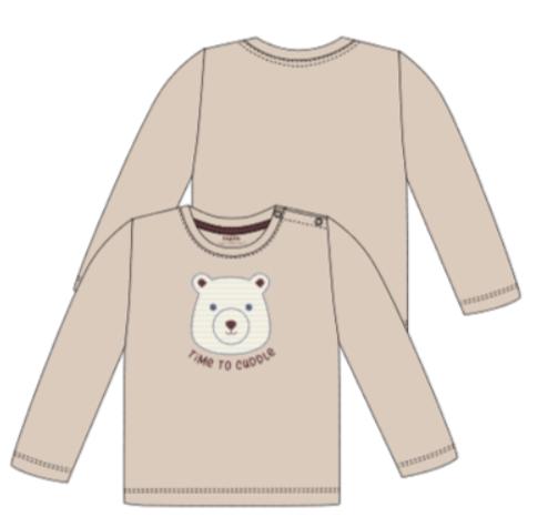 lupilu Longsleeve beige Bär
